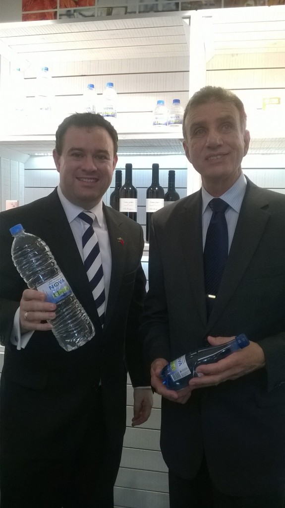 Nova Springwater's Sales and Marketing Manager Michael Cefai with New South Wales Minister for Trade the Hon. Stuart Ayers MP at the official Launch of the Australian Business Chamber's Export Growth China Program in Shanghai on 20th August 2015.
